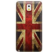 Bandera de Reino Unido reemplazo plástico del modelo del caso cubierta de batería de la contraportada para Samsung Galaxy Nota 3 N9000