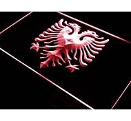 Albanian Eagle Bar Pub Club Logo Neon Light Sign