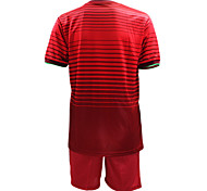 Men's Short Sleeve Soccer Jersey + Shorts Clothing Sets/Suits Red Football/Soccer S M L XL