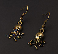 Cute Octopus Copper Earrings(1 Pair)