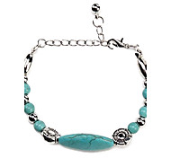 Coway3000040 Vintage Bohemian Style Turquoise Flower Bracelet
