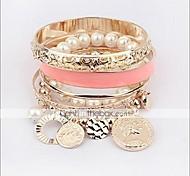 Chaînes & Bracelets / Bracelets de rive(Alliage / Imitation de perle)Quotidien