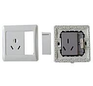 3-Pin Plug Socket With Rocker Switch (16A)
