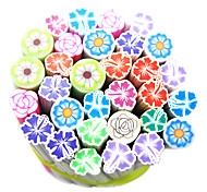 50PCS Polymer Flower Canes Rods Nail Art Decorations