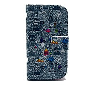 Popular Cartoon Pattern PU Leather Case with Card Slot and Stand for Samsung Galaxy S3 mini I8190