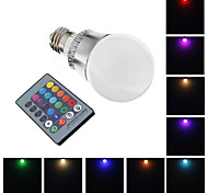 E26/E27 5 W 1 High Power LED 400 LM RGB Globe Bulbs AC 220-240 V
