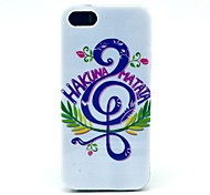 Music Hakuna Matata Pattern Hard Cover Case for iPhone 5/5S