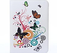 Music Butterfly Flower Pattern PU Leather Full Body Case for Samsung Tab 4 10.1 T530