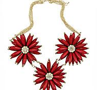 European Elegant (Pepper) Multicolor Alloy Pendant Necklace(Black,Red) (1 Pc)