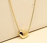 Vintage Jewelry 18k Gold Plated Heart Necklace Fashion Accessories for Women and Ladies