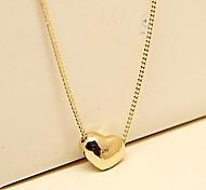 Bijoux vintage 18k plaqué or collier de coeur d'accessoires de mode pour les femmes et de dames