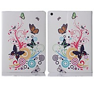 ENKAY Auto Sleep and Wake Up Designed Flower Pattern Protective Case with Stand for iPad Air