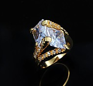 Mother's Day Gift  24K Yellow Gold Plated Zircon  Ring