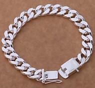 Classiclook  Fashion Jewelry 8inch 925 Silver Charm Bracelet