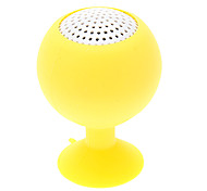Weinglas Form aufladbarer Yellow Mini-Lautsprecher mit Saugnapf für iPhone / iPad (3,5 mm / 5V)