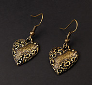 Cute Heart Copper Earrings(1 Pair)