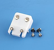Professional Allergy Free Studs  Piercing  Alloy with Diamond Bullet (1pair)