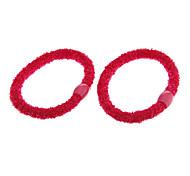 Мода Упругие Вилли Исправлена бисера Ткань связей волос для женщин (2 шт)