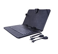 Universal  Keyboard   Case with 2 OTG Cable and  Stylus Pen for 10 inch PC Tablet