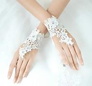 Wrist Length Fingerless Glove - Lycra Bridal Gloves/Party/ Evening Gloves