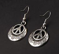 Cute Peace Silver Alloy Earrings(1 Pair)
