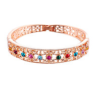 Fashion 5.5Cm Diameter Women Multicolor Crystal Bangle