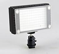 WanSen 96 96 Luz de vídeo LED de la lámpara de 7W Dimmable 900LX para Canon Nikon Pentax DSLR Cámara