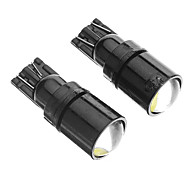 T10 2W 6000K Cool White Light LED Bulb for Car (12V,2pcs)