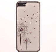 Fashion Crystal Diamond Look Dandelion Flower Hard Case with Electroplated Frame for iPhone 5/5S (Assorted Colors)