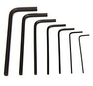 Pro'sKit 8PK-022 7Pcs Miniature L Shaped Hex Key Set (0.7,0.9,1.3,1.5,2,2.5,3mm)