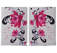 ENKAY Auto Sleep and Wake Up Designed Flower Pattern Protective Case with Stand and Cart Slots for iPad Air