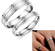 Super Pretty Simple Lovers Love Set Auger Titanium Steel Ring