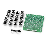 DIY MCU Extension 4 x 4 16-Key Matrix Keyboard Module for (For Arduino)