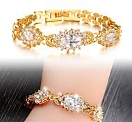 mode ms de haute qualité beau luxe de 3 bracelets un zircon blanc cadeau exquis