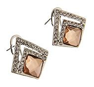 Rhinestone Square Stud Earrings