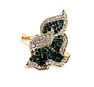 2014 venta caliente estilo elegante rhinestone allanó últimas diseños de anillos de oro