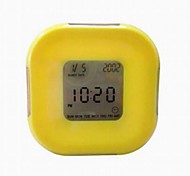 All Sides Rotating Including Calendar Temperature Rountdown Alarm Clocks (Color Random)