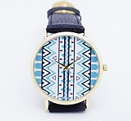Unisex Aztec Round Dial Leather Band Quartz Analog Fashion Wrist Watch(Assorted Colors)