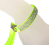 The Four Rows Diamond Green Bracelet