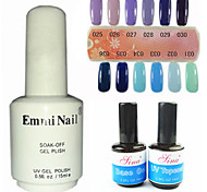2PCS 14ml UV Top Coat Gel&Base Gel+1PCS 15ml UV Color Gel 12 Assorted Color NO.25-36