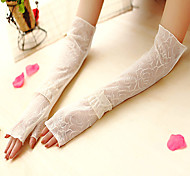 Elbow Length Half Finger Glove Lace Bridal Gloves / Party/ Evening Gloves / General Purposes & Work Gloves Spring / Summer / Fall