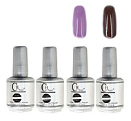 4PCS CH Silver Bottle Soak-off UV Gel Set Top Coat+Base Gel+2 UV Color Builder Gel(No.33-34,15ml)