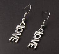 Cute Love Silver Alloy Earrings(1 Pair)