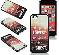 Elonbo J5A A Classic Statement Style Back Case Cover for iPhone 5C