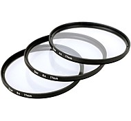 Star Filter x 77mm 4 point + 6 point + 8 point Three pieces Combination Suit for Canon / Nikon / Sony SLR etc - Black
