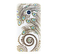 Kinston The Peacock Feather Diamond Paste Pattern Tpu Soft Case for The New HTC One M7