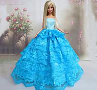 Stile Principessa Abiti Per Barbie Doll Blu Abiti Per Girl Doll Toy