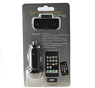 868A Car MP3 Player iphone  FM Transmitter + Car Charger with 3.5mm - Black
