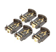 DIY Battery Holder for CR2032 Coin Cell - Brown (5 PCS)