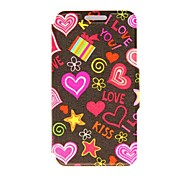 For Motorola Case Card Holder / with Stand / Flip / Pattern Case Full Body Case Heart Hard PU Leather Motorola
